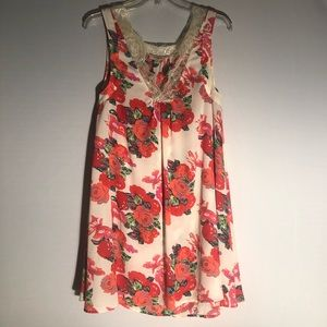 Umgee Floral Dress Q13